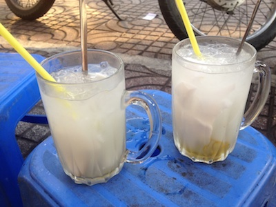 A quick, icy drink in steamy Saigon