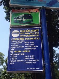 Saigon Bus Route Map for Ho Chi Minh City Tourists