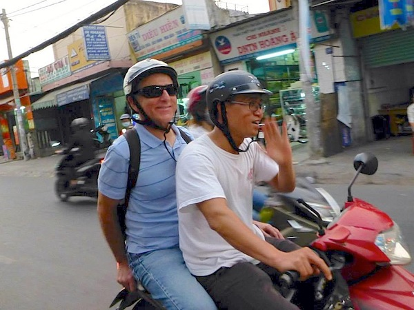 Joe & Hai motorbike